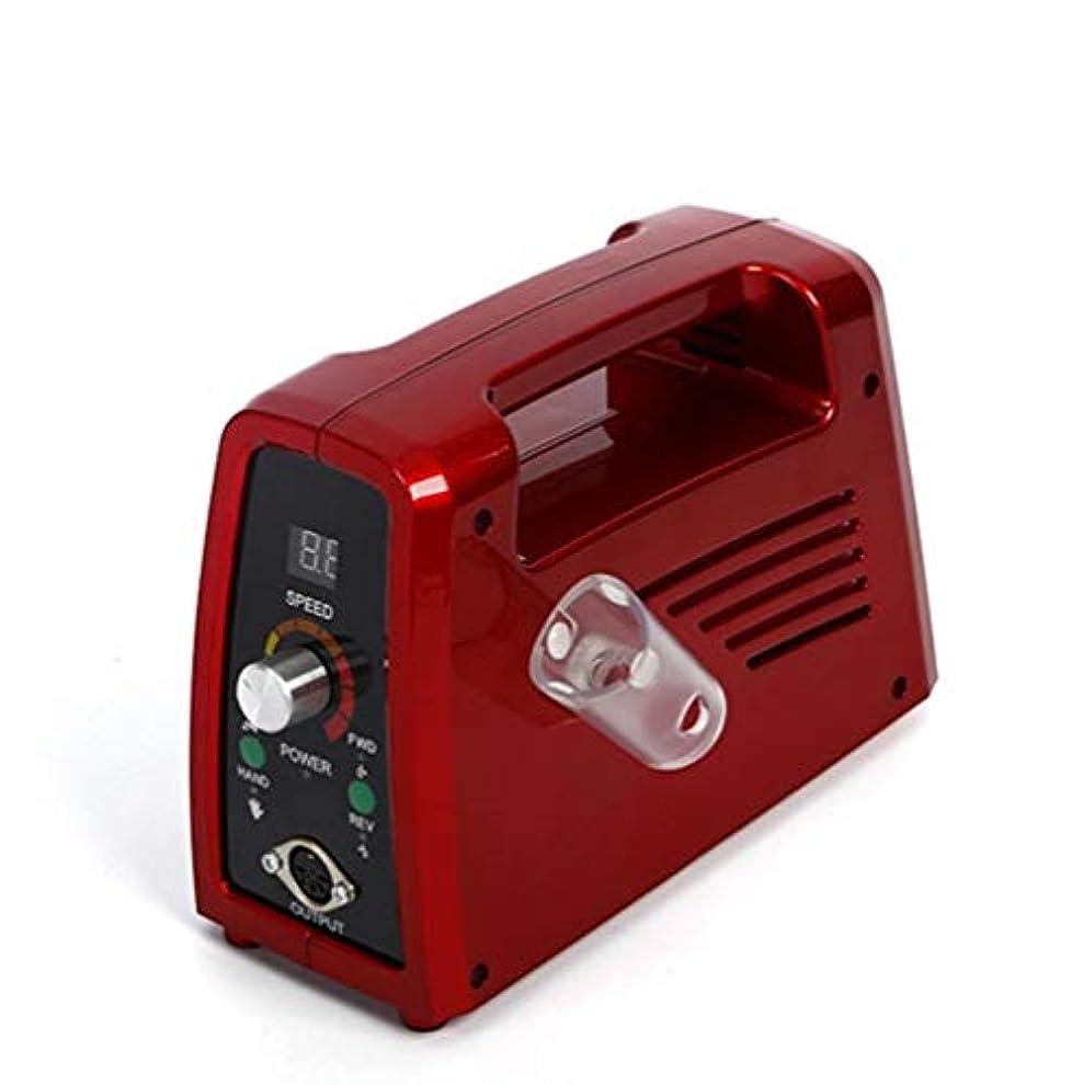 地域未亡人穴電気35000 rpmネイルドリルプロフェッショナルネイルファイル用アクリルネイル彫刻マニキュアペディキュアマシンニスネイルポリッシャードリルビット液晶ディスプレイ