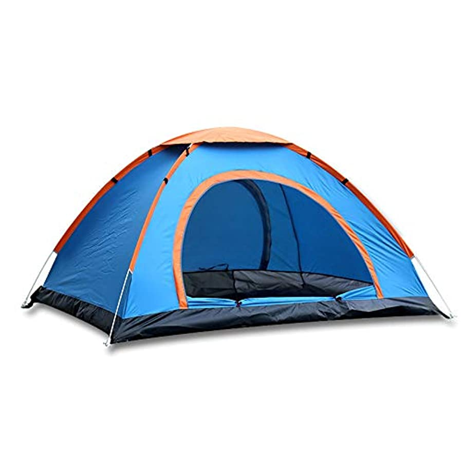 見物人粗い武器ビーチテント、屋外自動テントスピードオープンシェードテント野生釣りテント防雨UVプロテクションテント (Color : ブルー)