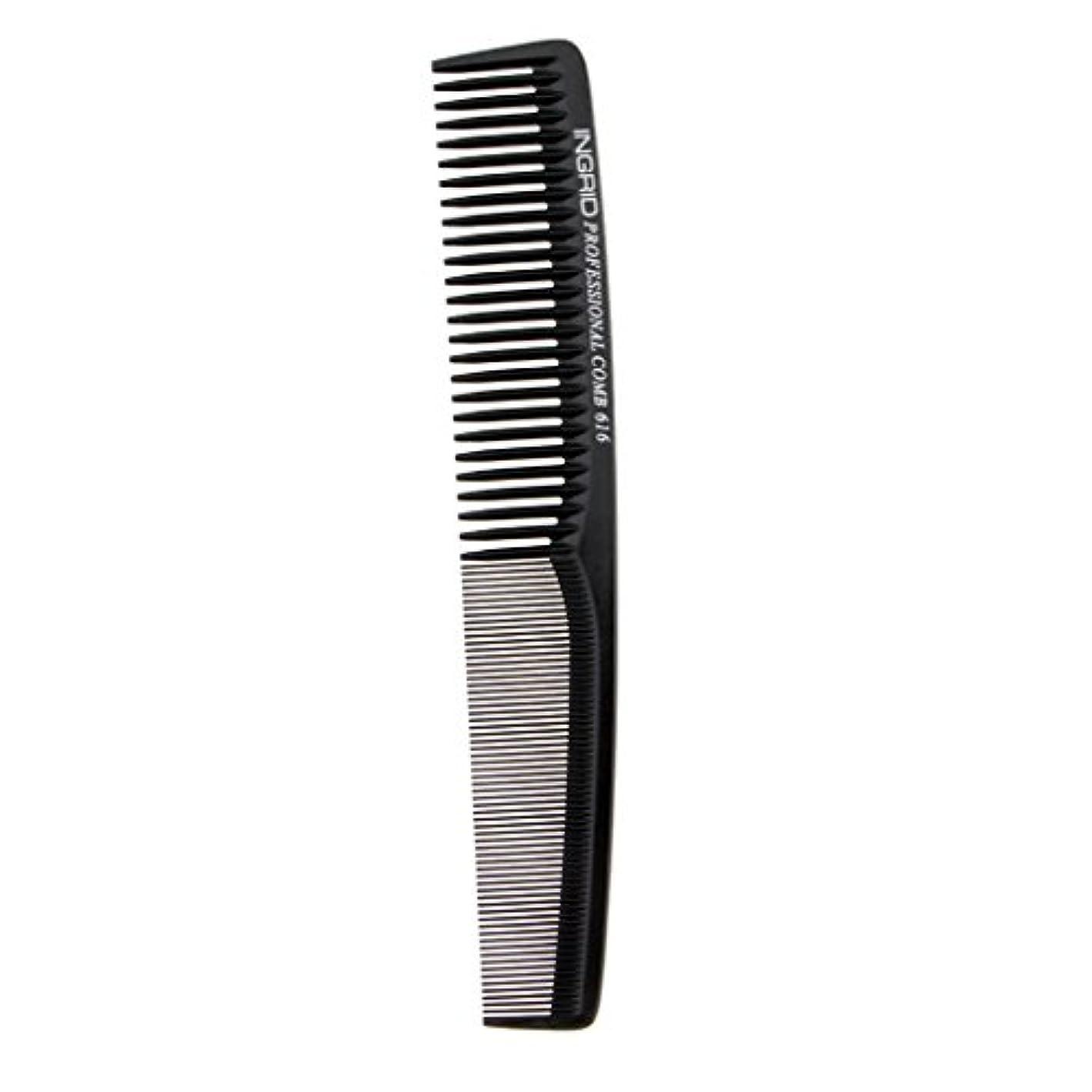 知り合いになる経験者ひばりヘアカットコーム 櫛 コーム 理髪店 ヘアケア 便利 全5色 - ブラック