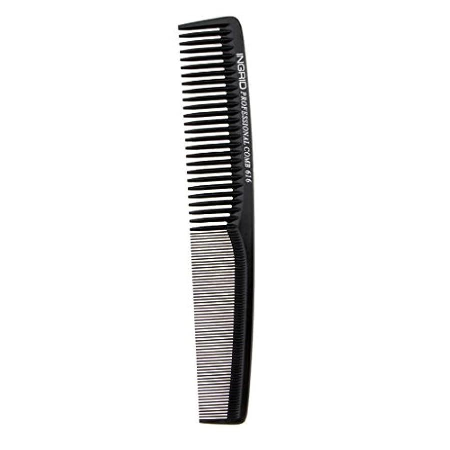 カスタムステッチ膨張するヘアカットコーム 櫛 コーム 理髪店 ヘアケア 便利 全5色 - ブラック