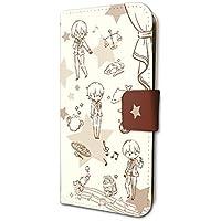 スタミュ 01 ちりばめ team鳳(グラフアートデザイン) 手帳型スマホケース iPhone6/6S/7/8兼用