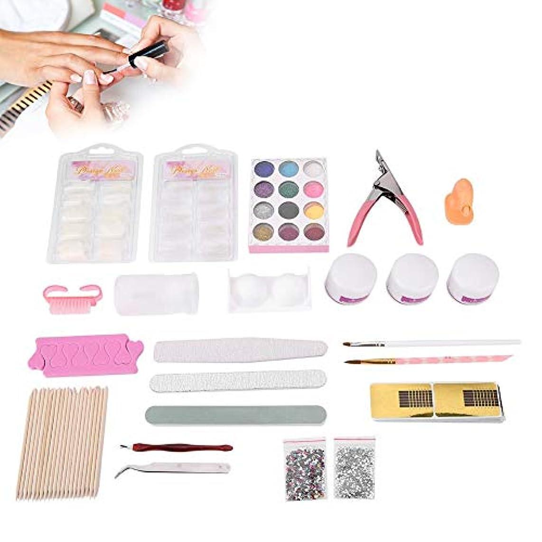 素晴らしき懲らしめシアーネイルアートキット 指モデルクリーニングブラシ ネイルのスパンコール DIYの装飾マニキュアキット 62pcs /セット