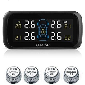 TPMS (Tire Pressure Monitoring System) ワイヤレス タイヤ 空気圧 温度 モニタリングシステム(カラフル)日本語説明書付き U903Z