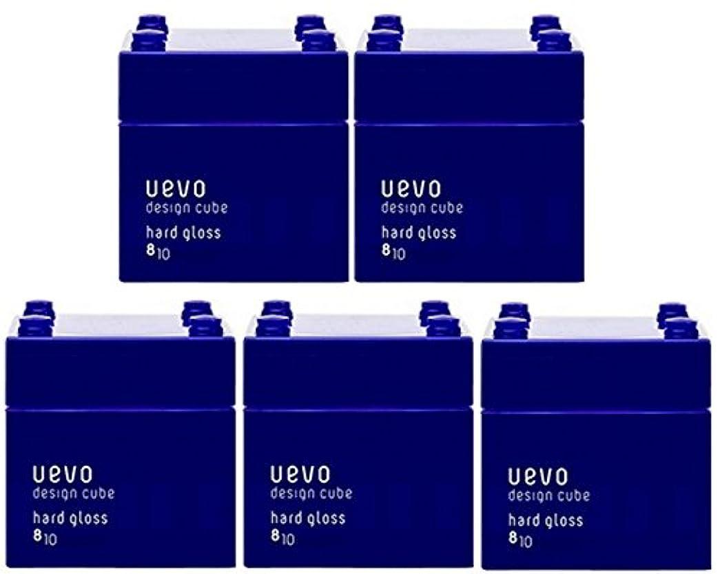 優れた換気ロボット【X5個セット】 デミ ウェーボ デザインキューブ ハードグロス 80g hard gloss DEMI uevo design cube
