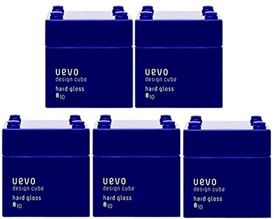 信念つかの間うっかり【X5個セット】 デミ ウェーボ デザインキューブ ハードグロス 80g hard gloss DEMI uevo design cube