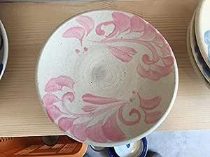 やちむん 唐草 7寸皿 ピンク 焼き物 煮物皿 サラダ皿 取皿 縁起物 出産祝い 引っ越し祝い 開業祝い 沖縄 土産