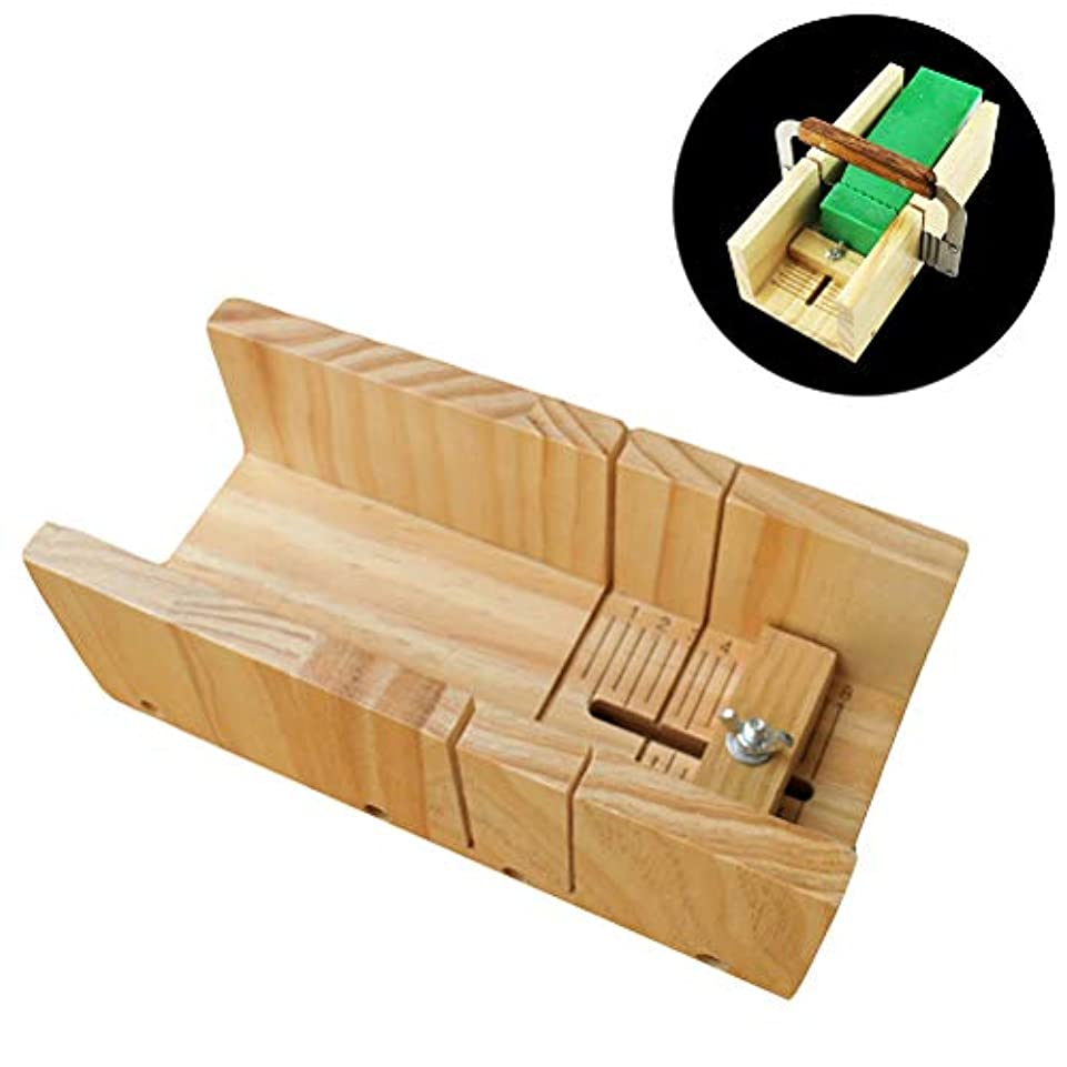 Healifty 木製石鹸カッターモールド石鹸ロープモールド調節可能なカッターモールドボックス石鹸ツールを作る