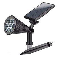 [monicajpstore]ソーラーライト LEDライト 屋外 埋め込み 壁掛け対応 防水IP65 防犯ライト センサーライト スポットライト 照明 夜間自動点灯 芝 変色ライト