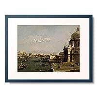 カナレット Giovanni Antonio Canal 「Santa Maria della Salute and the Riva degli Schiavoni in Venice. About 1730-40」 額装アート作品