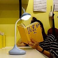 かわいいナイトライトベッドサイドランプ 三色のオプションを充電タッチウサギの夜の光ランプUSB (Color : Blue)