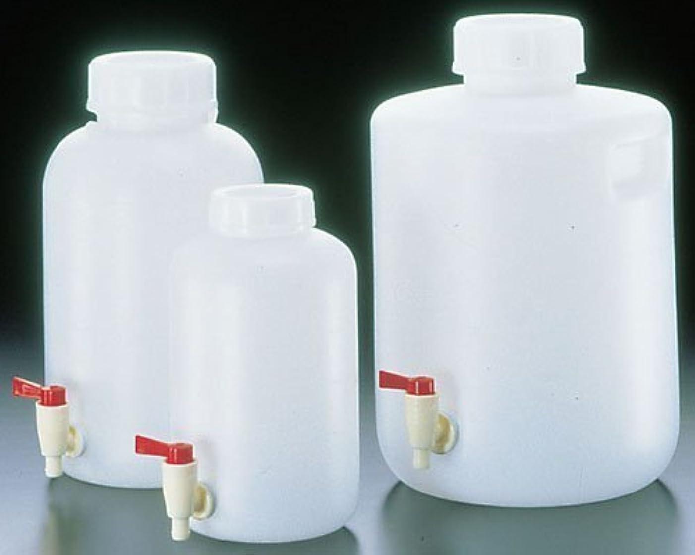 時折評決ルアーSANPLATEC(サンプラテック) PE 広口下口活栓付瓶 5L 2095
