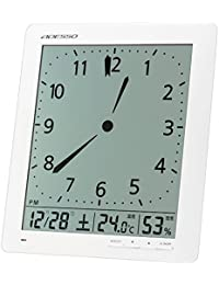 ADESSO(アデッソ) 電波目覚まし時計 アナログ風デジタル電波時計 置き掛け兼用 ホワイト KW9280
