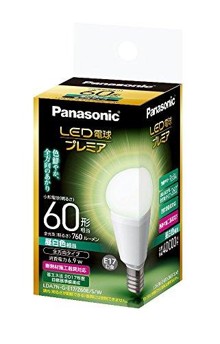 LED電球 プレミア 口金直径17mm 電球60W形相当 昼白色相当(6.9W) 小型電球・全方向タイプ 1個入 密閉形器具対応 LDA7NGE17Z60ESW