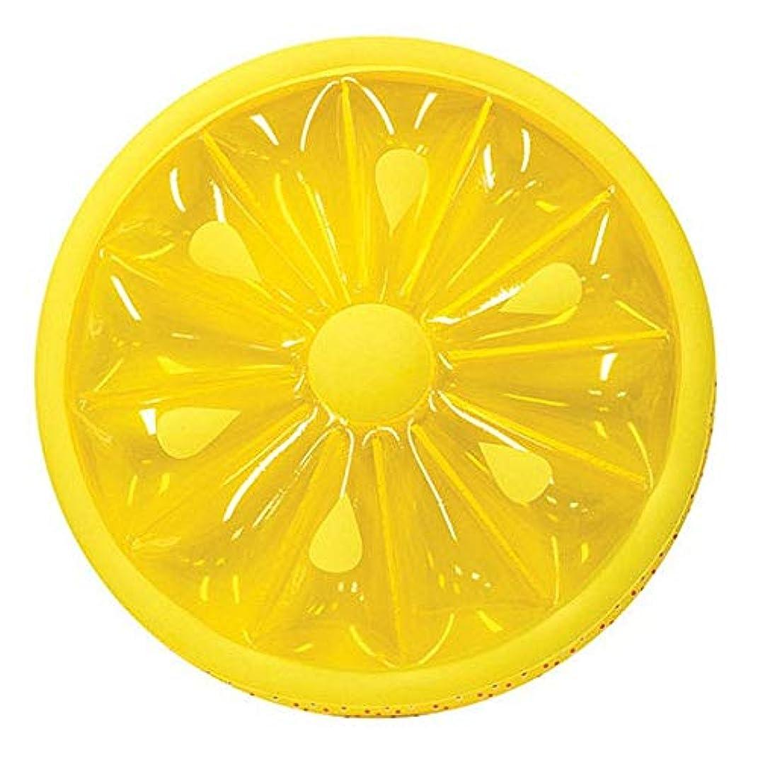 トラフィックセメント送るプール用フロート 夏の水泳党または浜のおもちゃのための膨脹可能で頑丈なプールレモンスライスの浮遊物プールのラウンジのおもちゃ (色 : 黄, サイズ : Free size)