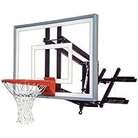 最初チームroofmasterターボ屋根と壁マウントバスケットボールフープと54インチガラスBackboard