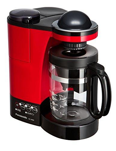 パナソニック ミル付き浄水コーヒーメーカー レッド NC-R400-R