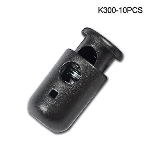 DYZD コードストッパー バレル型 穴直径6mm 袋物や衣...