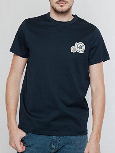 (モンクレール) MONCLER Wワッペン 無地 半袖 Tシャツ [MC80325008390Y] [並行輸入品]
