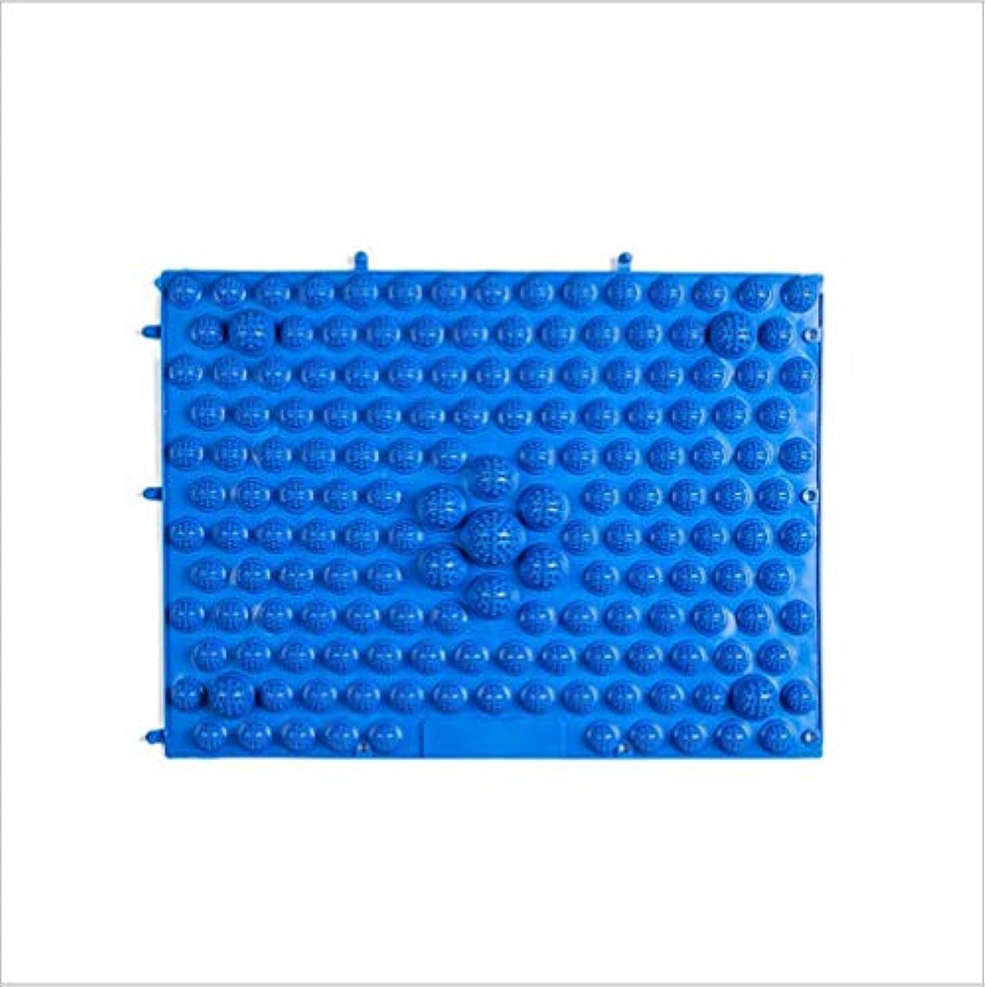 追放するリアル十ウォークマット 裏板セット(ABS樹脂製補強板付き)(ブルー)