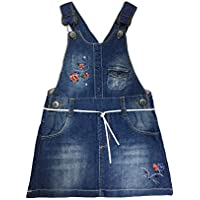 Kidscool Space Baby & Toddler Girls Floral Embroidered Cute Jeans Overalls Dresses
