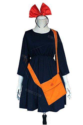【魔女の宅急便】 キキ コスプレ衣装 フルセット(ワンピース・カチューシャ・かばん