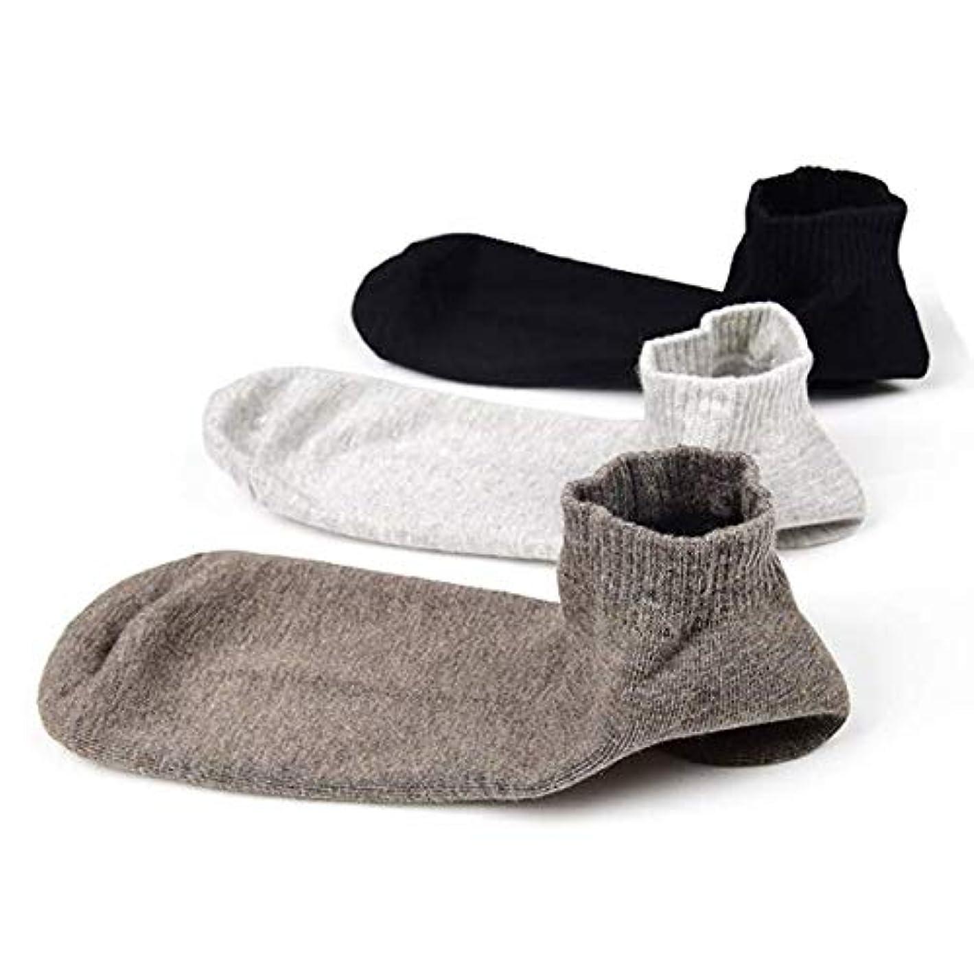 お金留まるタイトルSweetimes かかとケアソックス 保湿効果 靴下 がさがさ つるつる ひび割れ うるおい 3色セット No.149 (男性)