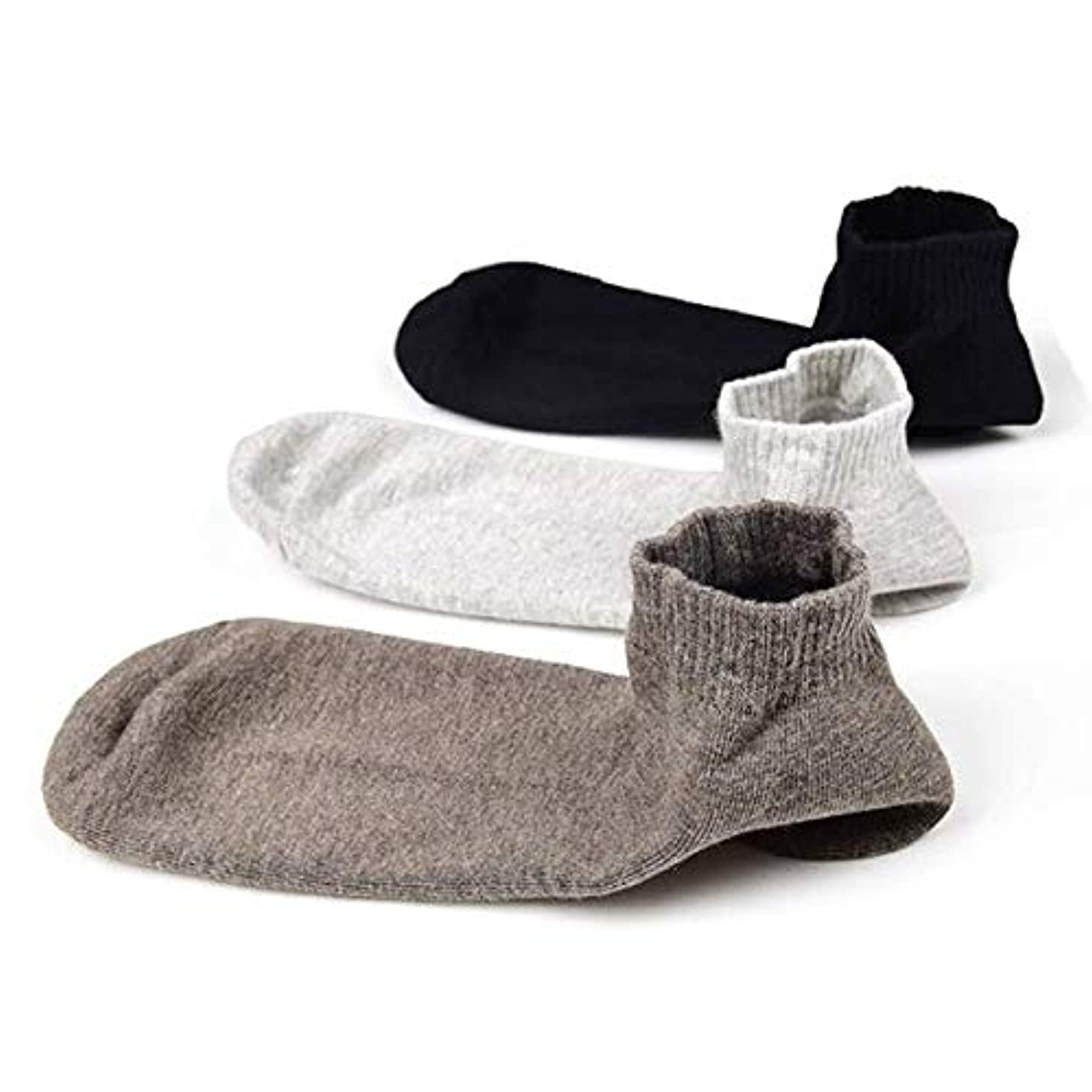 外観忠実促進するSweetimes かかとケアソックス 保湿効果 靴下 がさがさ つるつる ひび割れ うるおい 3色セット No.149 (男性)