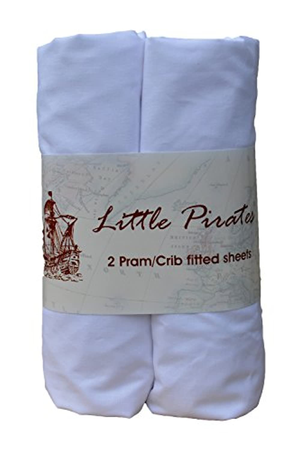 Baby Bassinet Cradle Jersey Fitted Sheet White, 100% Cotton-Luxury Brushed Percale 15x33 inches by Little Pirates