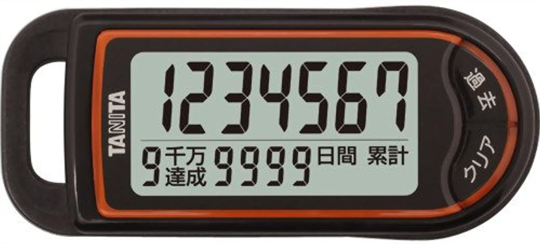 防水発言するグラスタニタ(TANITA) 3Dセンサー搭載歩数計 「億歩計」 ブラック FB-732-BK