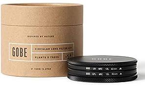 Gobe 62mm UV + Circular Polarizing (CPL) Lens Filter Kit (1Peak)
