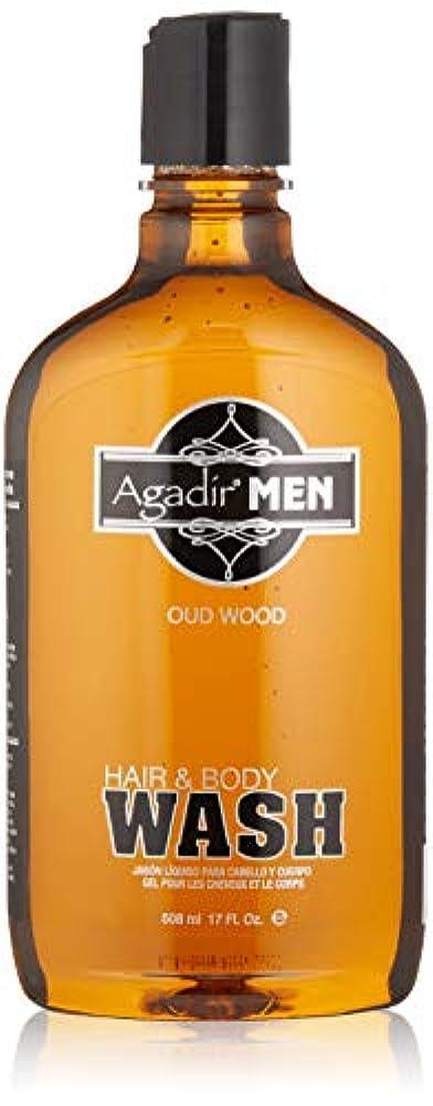 ルーム配当匿名アガディール Agadir Men Hair & Body Wash 508ml/17oz並行輸入品