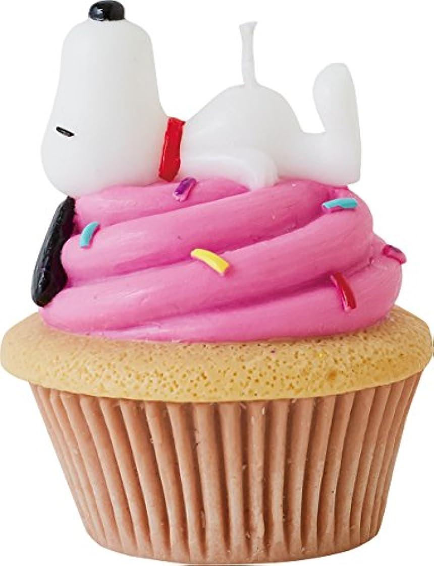 ゆりしかしプレートカメヤマキャンドルハウス スヌーピーカップケーキキャンドル ベリー(ストロベリーの香り)