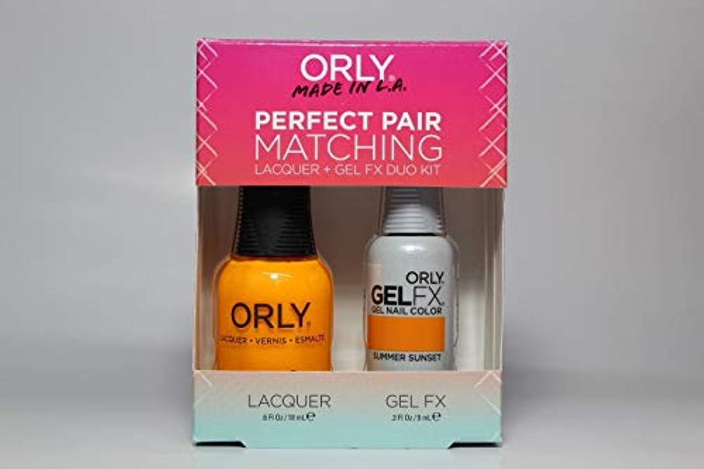 先行する詩人使用法Orly - Perfect Pair Matching Lacquer+Gel FX Kit - Summer Sunset - 0.6 oz / 0.3 oz