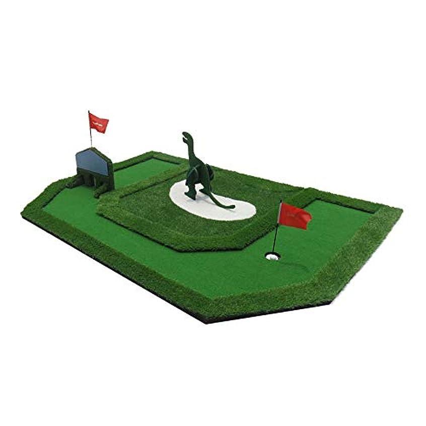 マリンメドレーニュージーランドパター練習 ポータブルゴルフ子供の夢グリーンユース屋内エクササイザーミニグリーンフェアウェイトレーニングセットトレーニングマット援助機器ギフト用キッズ (色 : 緑, サイズ : 363cm×198cm)