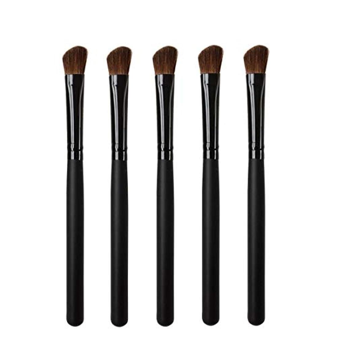 エチケットキャビン体操Makeup brushes 5リズムヘッド、持ち運びに快適な木製ハンドル、プロのアイシャドウ化粧道具 suits (Color : Black)