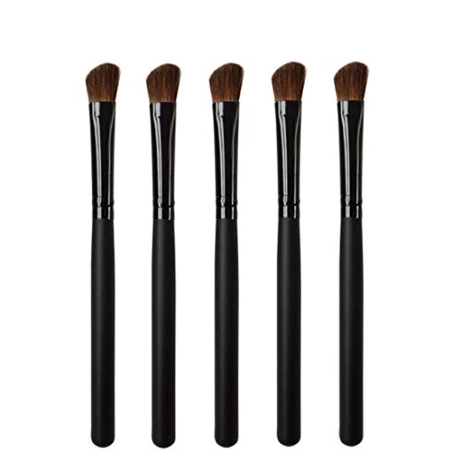 直感写真を撮るスクリューMakeup brushes 5リズムヘッド、持ち運びに快適な木製ハンドル、プロのアイシャドウ化粧道具 suits (Color : Black)