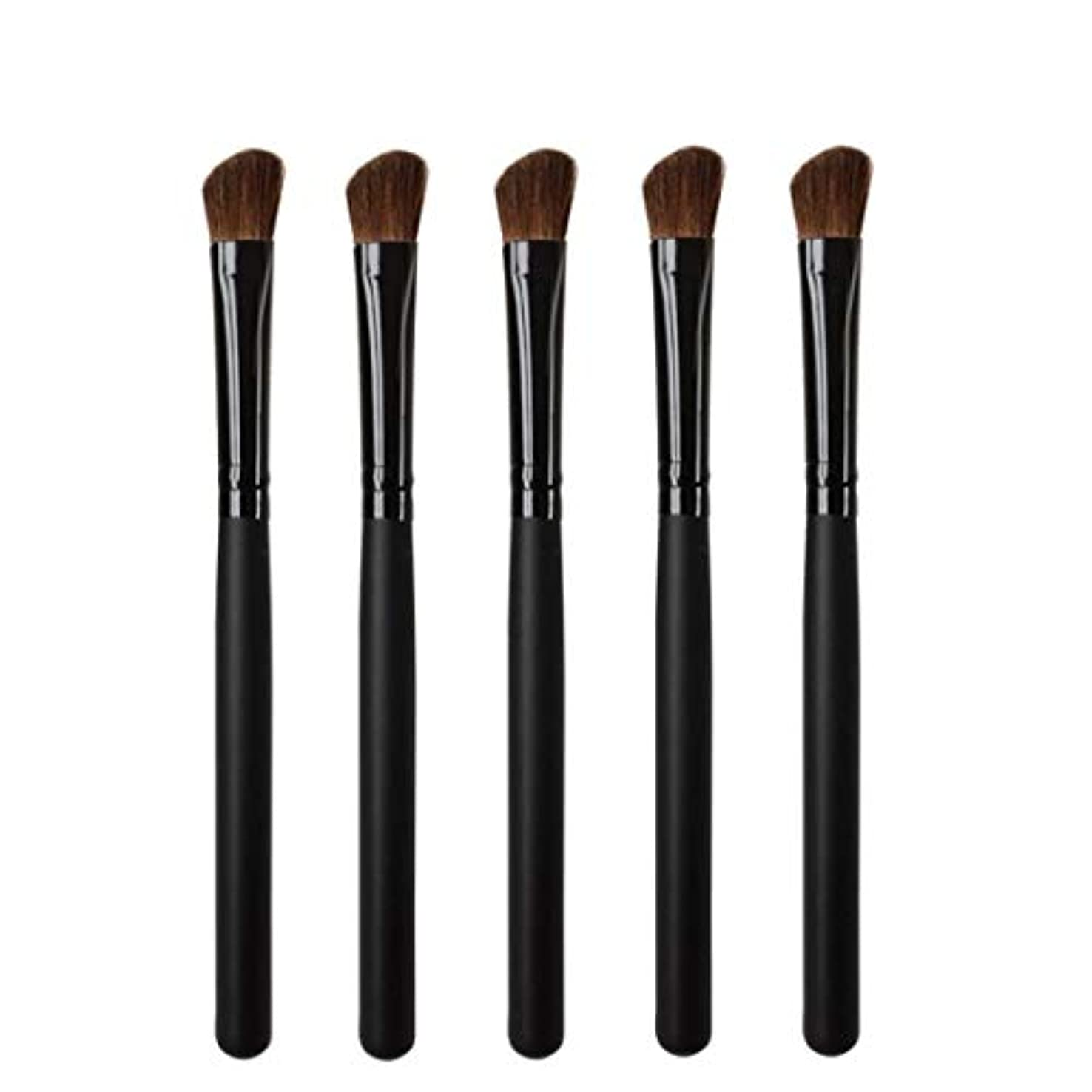 Makeup brushes 5リズムヘッド、持ち運びに快適な木製ハンドル、プロのアイシャドウ化粧道具 suits (Color : Black)
