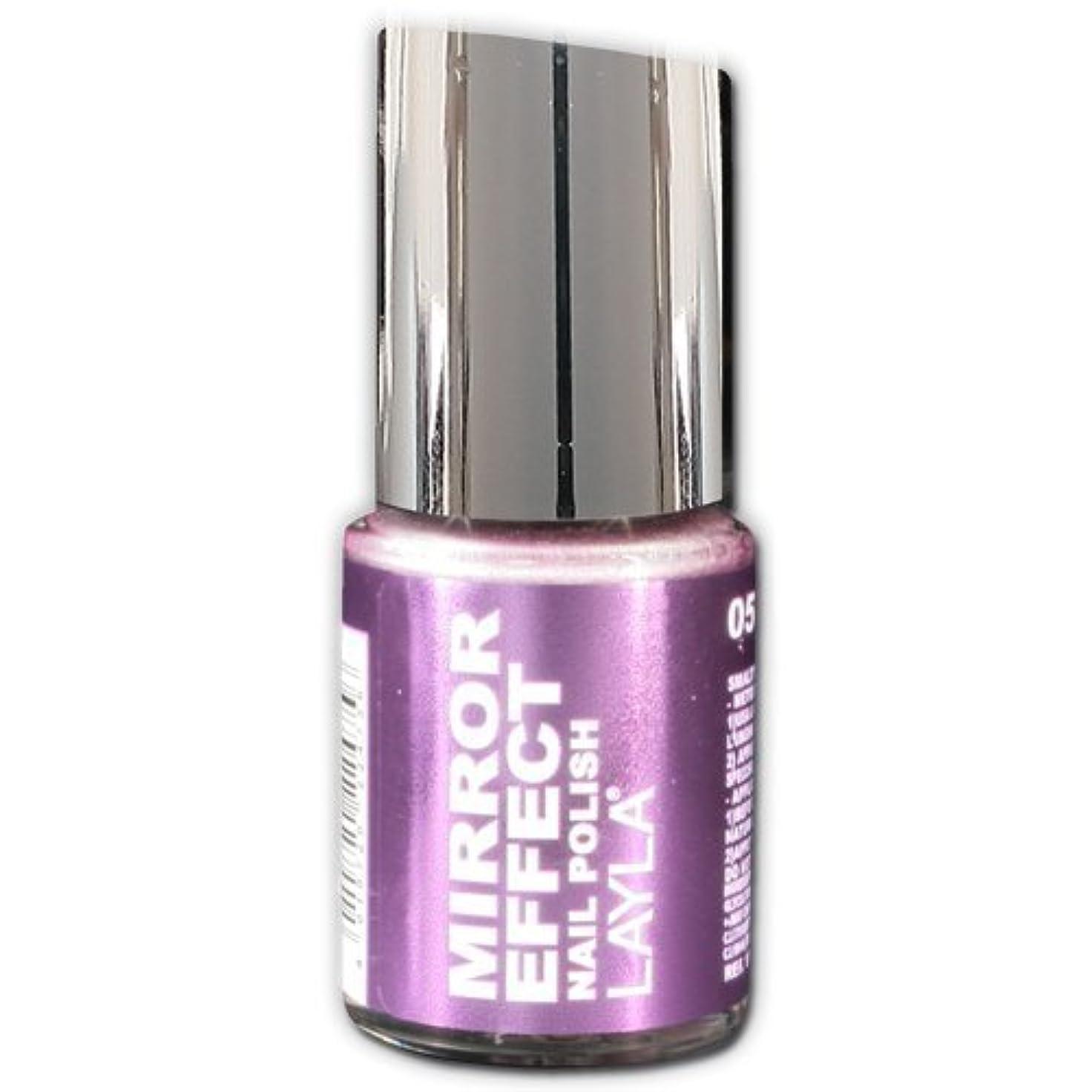 残基以来ミュージカルLayla Cosmetics Mirror Effect Nail Polish 51-Purple Diva 10 ml