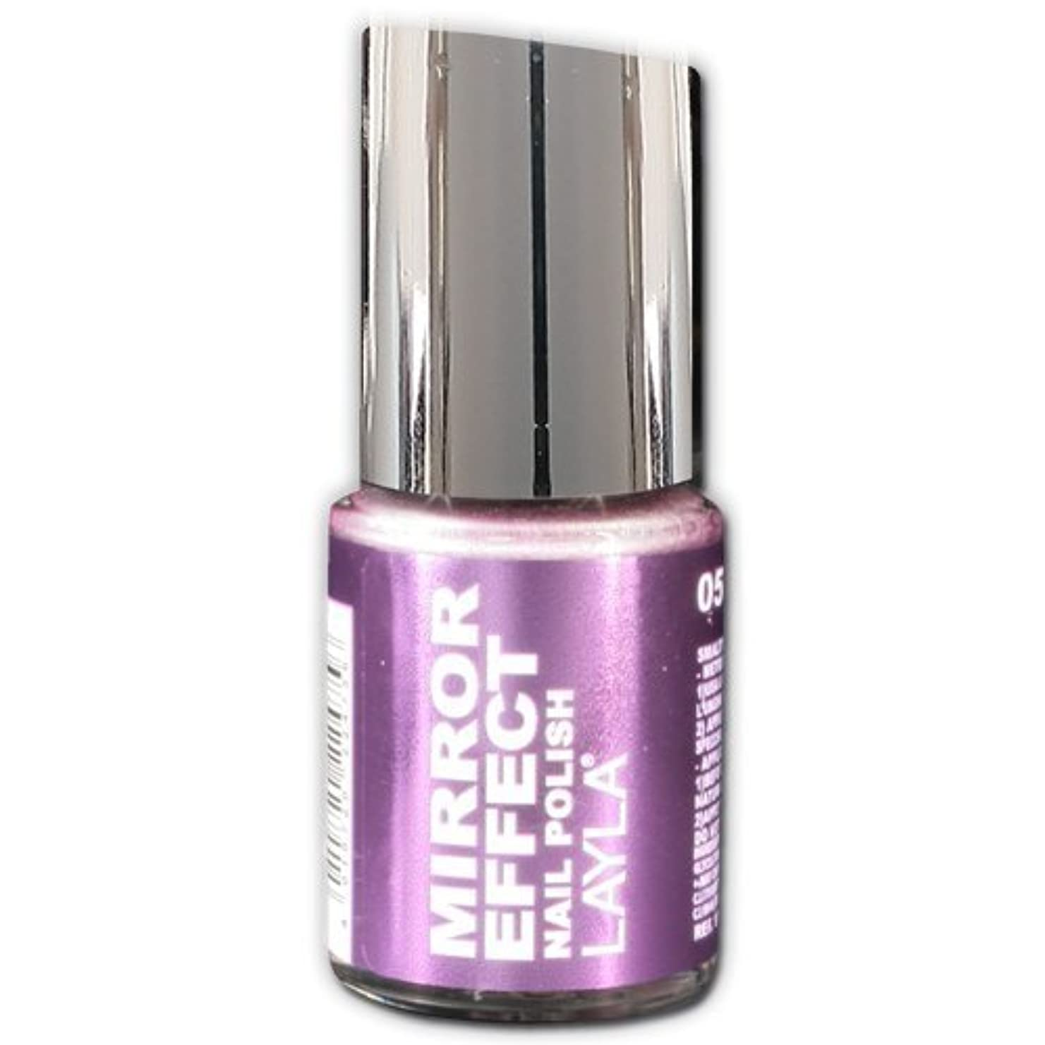 音声学そばに不快なLayla Cosmetics Mirror Effect Nail Polish 51-Purple Diva 10 ml