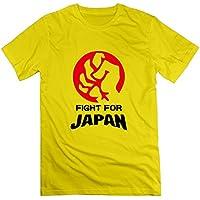 Cute Soul メンズ デザインTシャツ 半袖カットソー 努力 ファイティング 日本応援 観戦グッズ Fight勢い Japan Love ジャパンラブ カラー展開