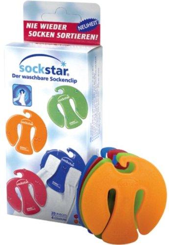 SockStar靴下クリップ ファミリーパック(20クリップ)カラフル