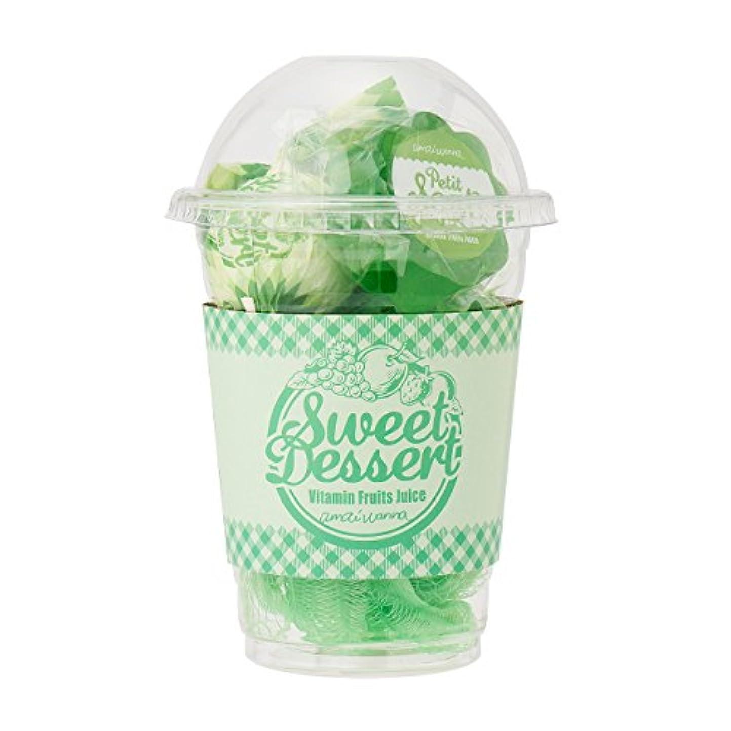 アマイワナ スイーツカップセット ビタミンフルーツジュース(入浴料ギフト バスキャンディー2個、プチソープ1個、スポンジ1個 心はずむ元気なビタミンフルーツの香り)