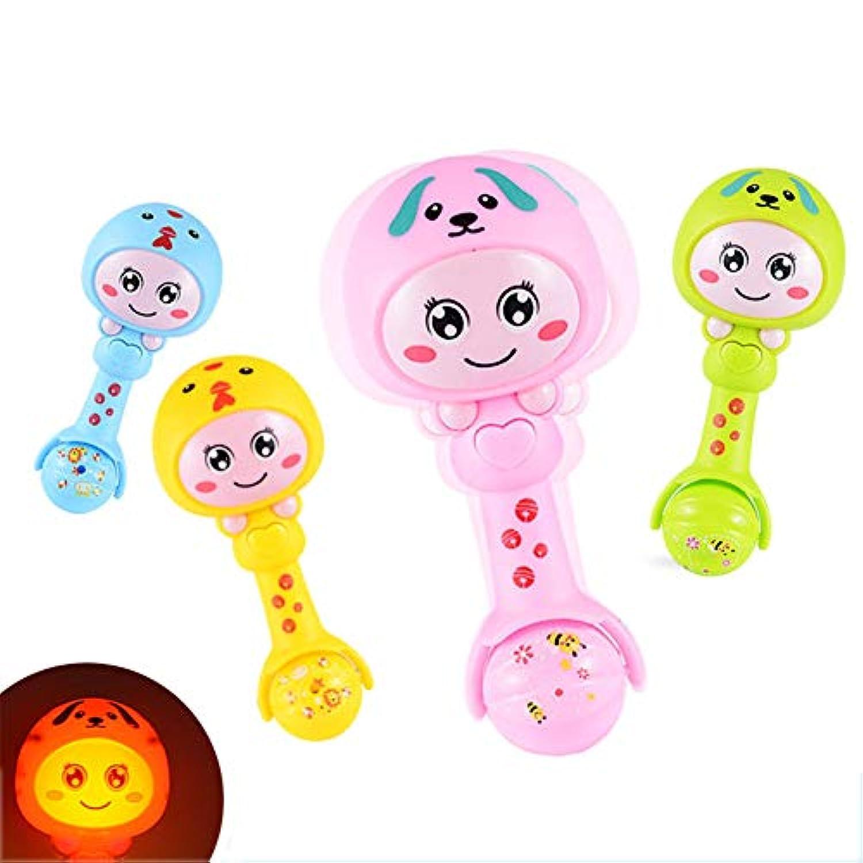 EDTara 赤ちゃん用ガラガラ 歯固め カートゥーン 電動 揺れる 手ベル 発達 ガラガラ おもちゃ 楽しいおもちゃ ギフト ランダムスタイル
