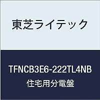 東芝ライテック 小形住宅用分電盤 Nシリーズ エコキュート(電気温水器) 40A + IH 付属機器取付スペース付 オール電化 60A 22-2 扉付 機能付 TFNCB3E6-222TL4NB