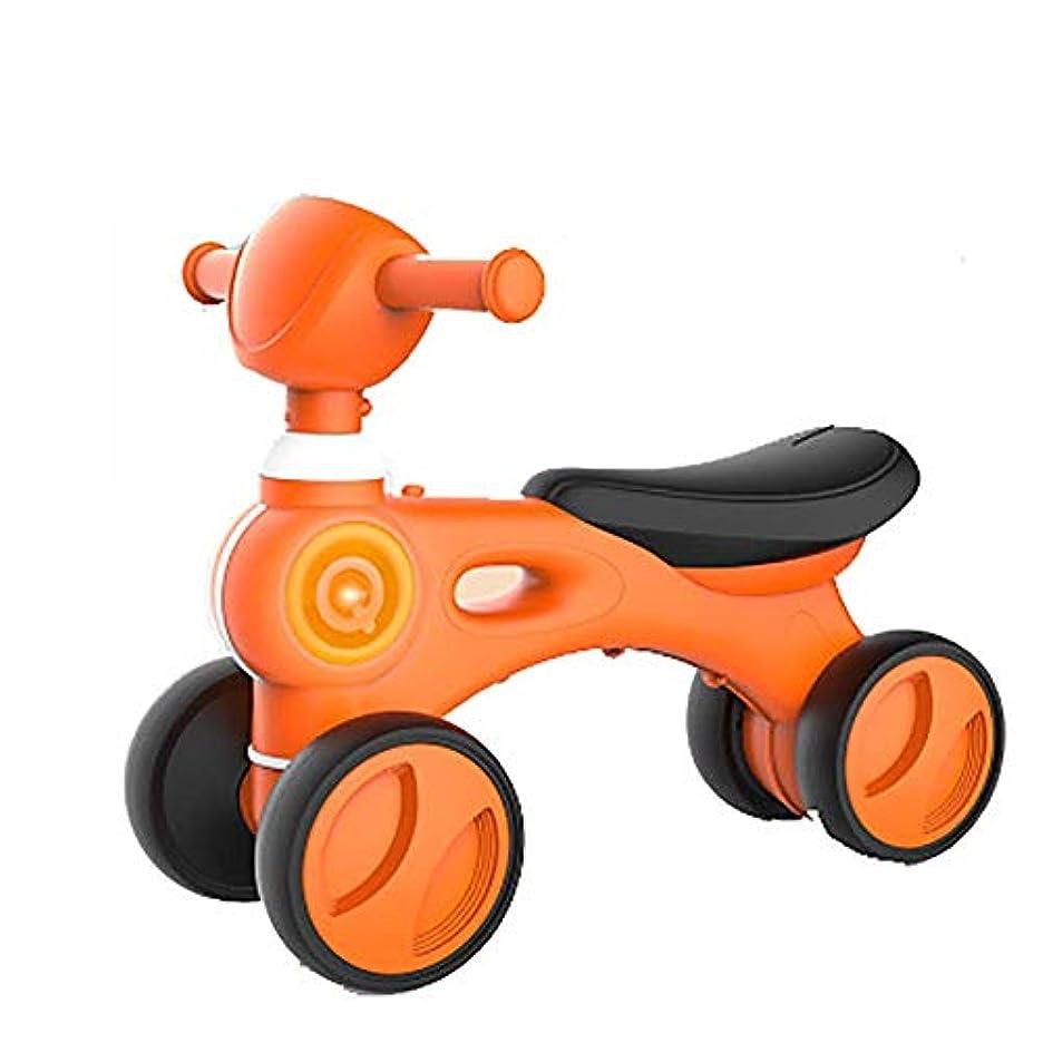 嘆願促すフォームベビーバランスバイク、ペダルなしの安全で快適なシートで10?24か月間幼児用ウォーカー、音楽付き子供用自転車、子供用スクーター