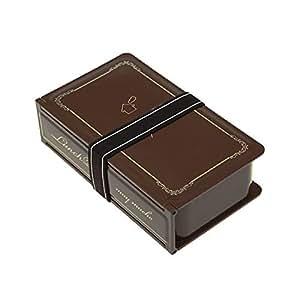 ランチボックス BOOK型 Brown(ブラウン) フォーク&スプーン付き LunchBox 90105