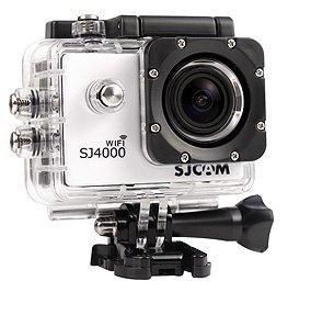 Wi-Fi スポーツカメラ 1.5インチ TFT 液晶モニター Wi-Fi機能搭載 30m防水 連写、循環録画、シームレス連結 (ホワイト)