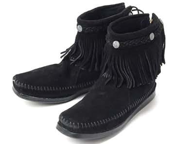 (ミネトンカ) MINNETONKA ハイトップ バックジップ ショートブーツ Hi Top Back Zip Short Boot 292(BROWN) 8(25cm) [並行輸入品]