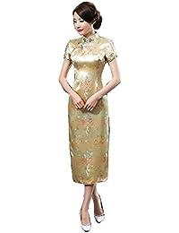 61703bda0bc61 Amazon.co.jp  ゴールド - ワンピース・ドレス   レディース  服 ...