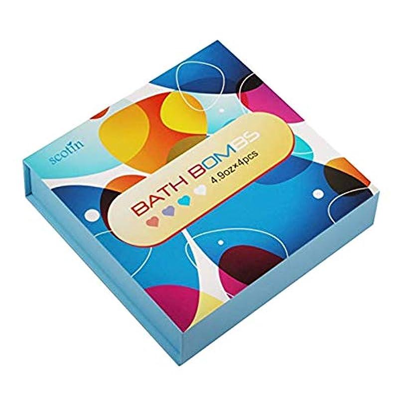 TOOGOO バスボール?ギフトセット-女性のための 4つのハート型 手作り-パーフェクト バブル&スパバス用-乾燥肌を保湿するためのエッセンシャルオイルとフレグランスオイル